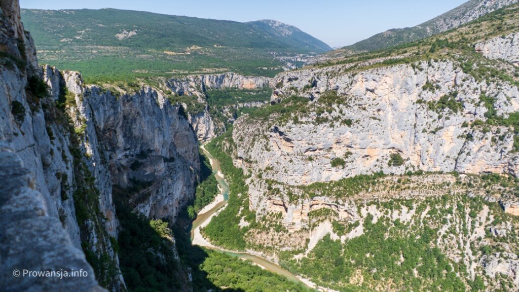 Punkt widokowy w kanionie Verdon