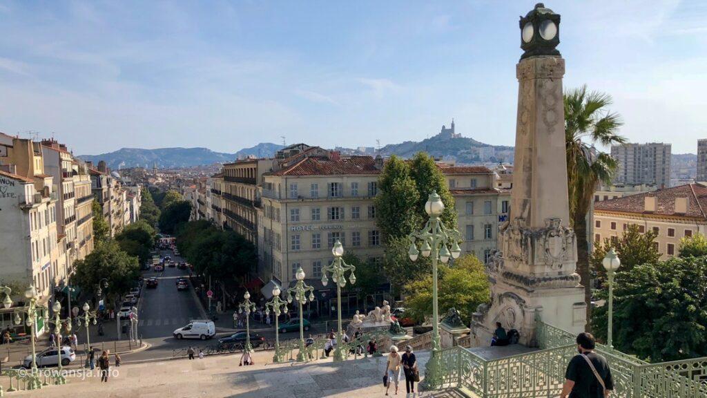 Widok na miasto z dworca kolejowego