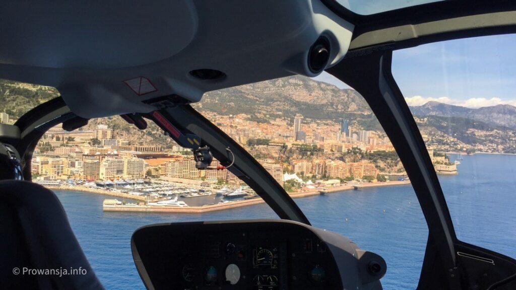 Widok z helikoptera od strony Nicei