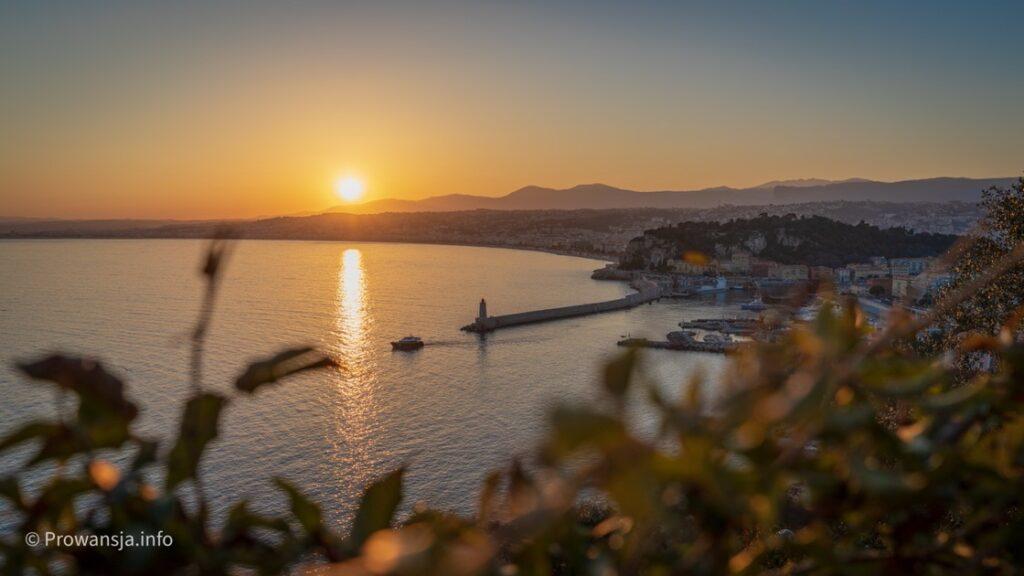 Zachód słońca w Nicei