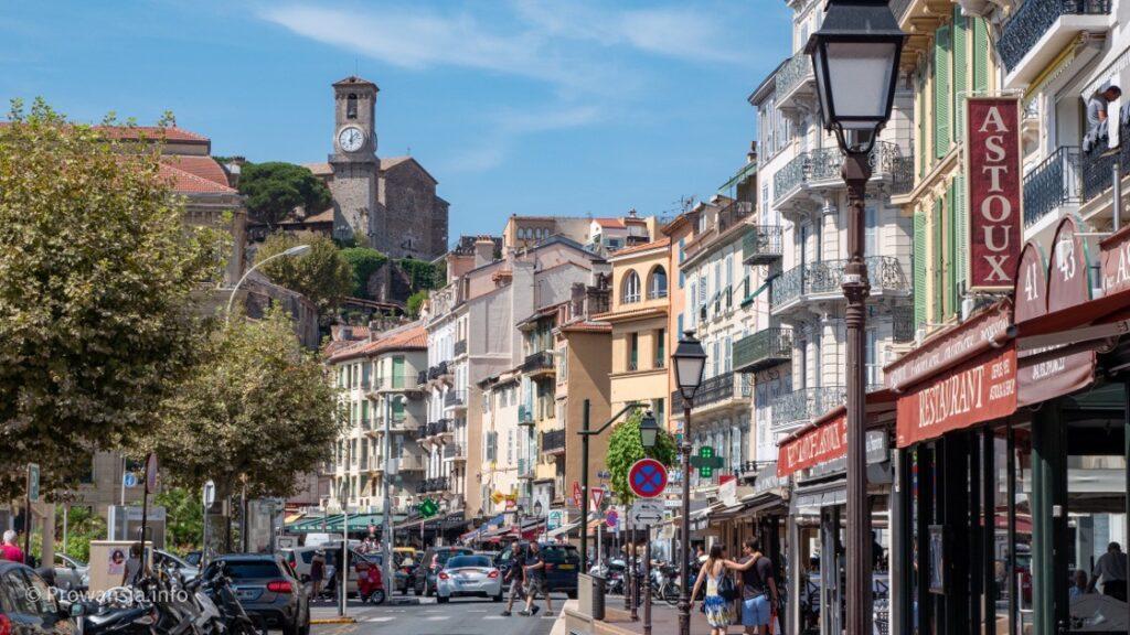 Widok w stronę Starego Miasta w Cannes