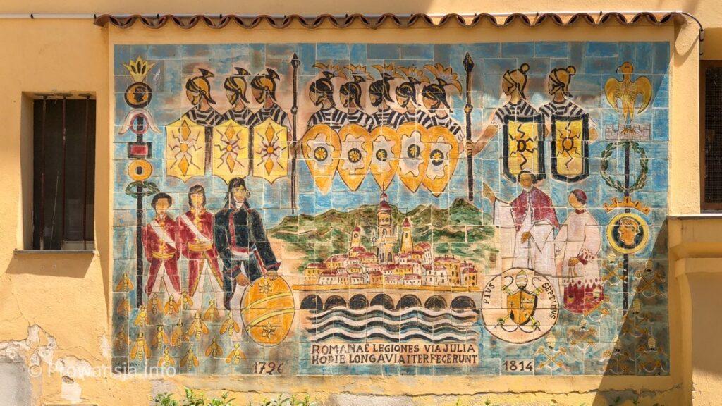 Mozaika w Menton