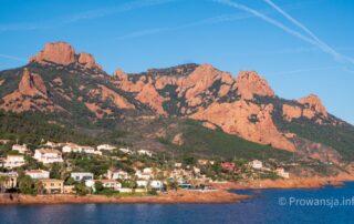 Masyw Esterel, wzgórza pomiędzy Cannes, a Frejus, Lazurowe Wybrzeże
